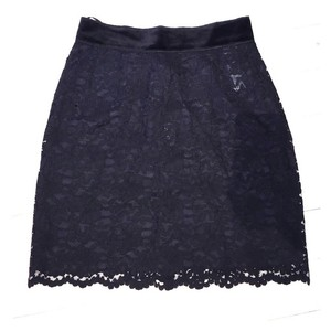 Dolce&Gabbana Dolce&gabanna Lace Mini Skirt Black