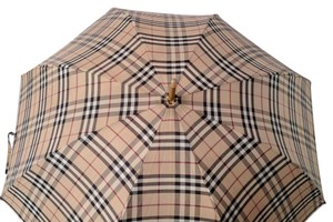 Burberry Burberry umbrella with wood handle in classic plaid