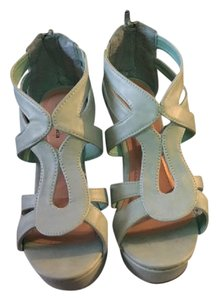 Other Strappy Heel Teal/Mint Wedges