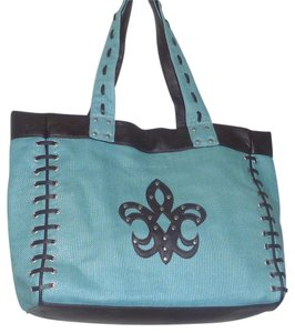 Steve Madden Linen Travel Weekender Tote in Blue