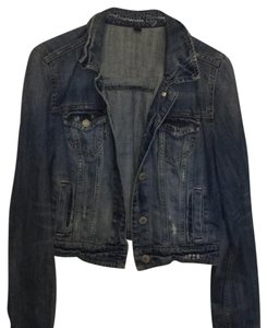 American Eagle Outfitters Distressed Blue Womens Jean Jacket