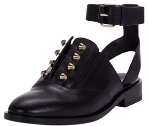 Balenciaga Boots Leather Boots Studded Boots Leather black Flats