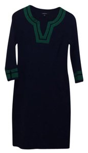 Lands' End short dress navy blue and green on Tradesy