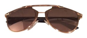 Dior Reflected 52MM Mirror Aviator Sunglasses Rose Gold/Gold Shaded Mirror