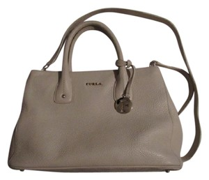 Furla Great Everyday Mint Condition For Travel/daily Use Two-way Style New With Tags Satchel in Ivory blush textured leather