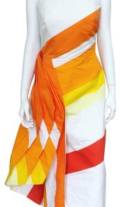 white, orange, & yellow. Maxi Dress by Rosie Assoulin