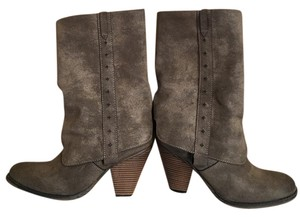 MIA Long Boot Taupe Suede Boots