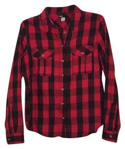 BDG Button Down Shirt Red