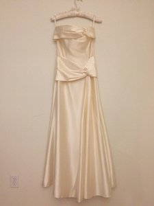 Jessica McClintock Ivory Floor Length Dress Dress