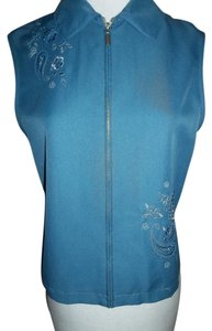 Alfred Dunner Petite 10 Embroidary Vest
