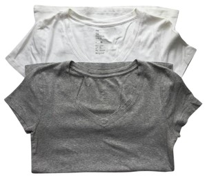 Gap T Shirt Gray / White