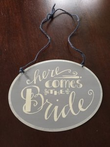 Here Comes The Bride Ring Bearer Sign