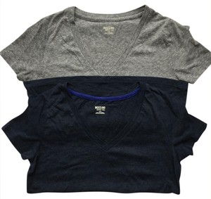 Mossimo Supply Co. T Shirt Heather Gray / Navy