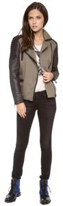 Maison Scotch Lambskin Studded Moto Jacket