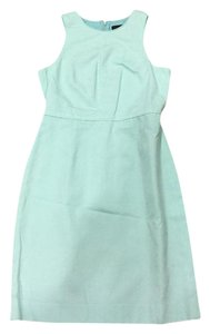 J.Crew short dress Pale Turquoise Shift Sleeveless Lined Excellent on Tradesy