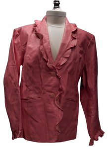 Terry Lewis Classic Luxuries Vintage Leather Ruffle Pink Leather Jacket
