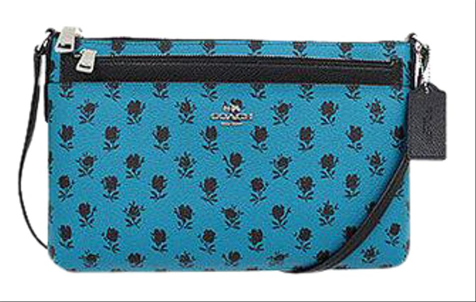 fd16745d0 Coach F38159 Badlands Floral with Pop Up Pouch Ends 2/10 Turquoise ...