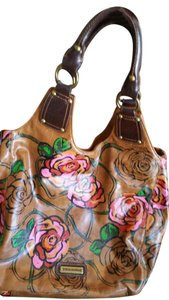 Steve Madden Leather Floral Leather Floral Unique Brown Leather Hobo Bag