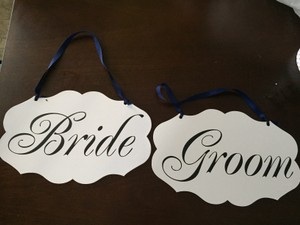 Double Sided Wedding Signs
