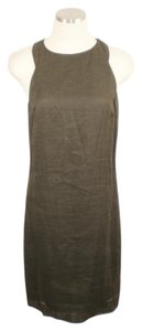 STRENESSE short dress Brown Linen Racer-back on Tradesy