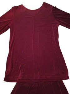 Other New Citiknits Burgundy Top and Maxi A Line Skirt Suit Set Size XS