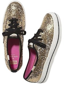 Kate Spade Glitter Sneakers Gold Athletic
