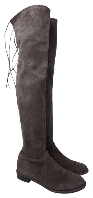 Item - Londra Grey Lowland Over The Knee Suede Boots/Booties Size US 7.5 Regular (M, B)