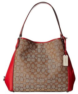 Coach Leather Signature Edie 31 Shoulder Bag