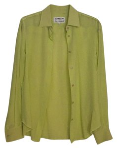 Maison Margiela Button Down Shirt yellow green
