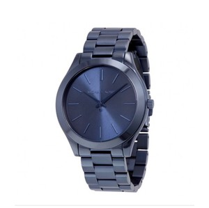 Michael Kors Slim Runway Blue Dial Blue Ion-plated Ladies Watch