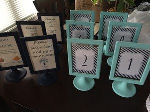Set Of 10 Frames Or Table Numbers