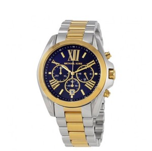 Michael Kors Bradshaw Chronograph Blue Dial Two-tone Ladies Watch