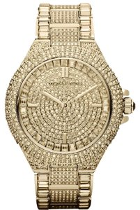 Michael Kors Camille Crystal Encrusted Gold Ion-plated Ladies Watch