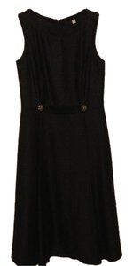 Saks Fifth Avenue Tea Length Classic Wool Silk Sleeveless Dress
