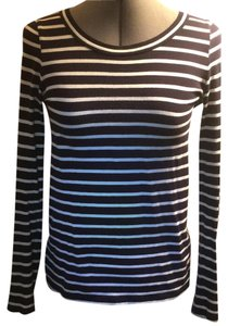 J.Crew Blue Striped T Shirt navy, white