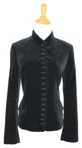 Theory Velvet Victorian Military Jacket Black Blazer
