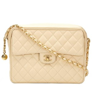 Chanel Caviar Camera Vintage Quilted Quilted Shoulder Bag