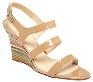 Kate Spade Cream, Nude, Tan, Orange, Pink, White, Purple, Yellow, Blue, Green Wedges
