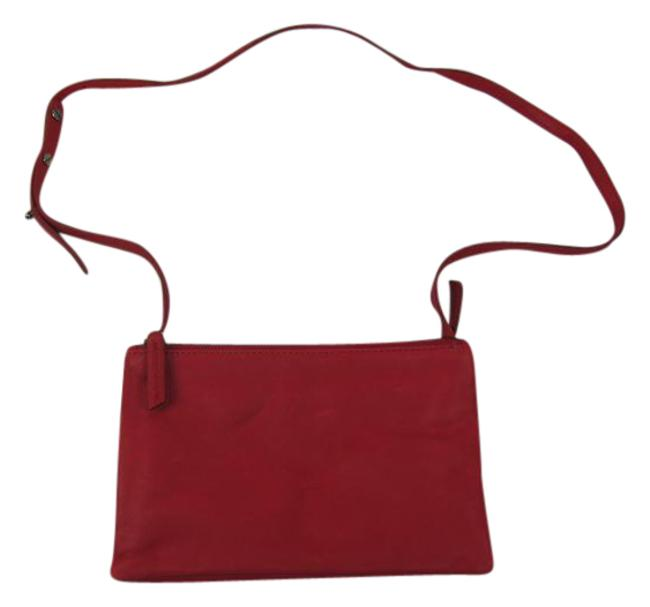 Item - Evelyn Red Leather Cross Body Bag
