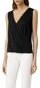 AllSaints Kerin Vest V-neck Sleeveless Top Black