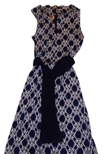 Tory Burch short dress Blue & white on Tradesy