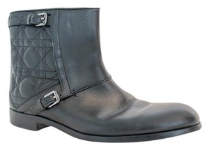 Dior Italian Lambskin Quilted Black Boots