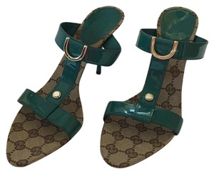 Gucci green and brown Sandals