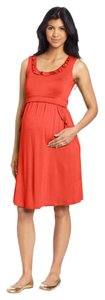 Maternal America Maternity Ruffle Pockets Dress