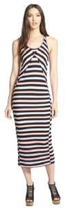 Black, Blue, Maxi Dress by Marc by Marc Jacobs Racerback Maxi Striped Mesh Designer