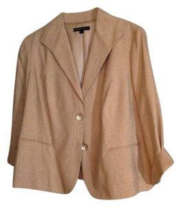 Lafayette 148 New York Sparkly Dressy Fully Lined Never Worn Gold Blazer