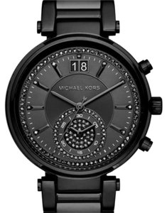 Michael Kors Sawyer Black-Tone Watch - BLACK by Michael Kors