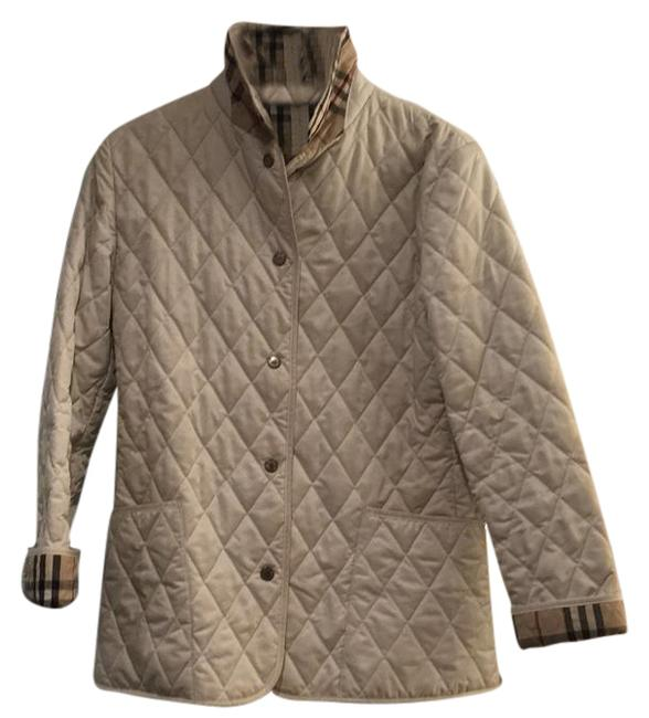 Item - White Quilted Coat Jacket Size 8 (M)