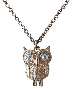 Francesca's ships next day - gold owl necklace