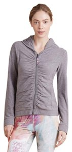 Pure + Good Ruched Zip-Front Hoodie